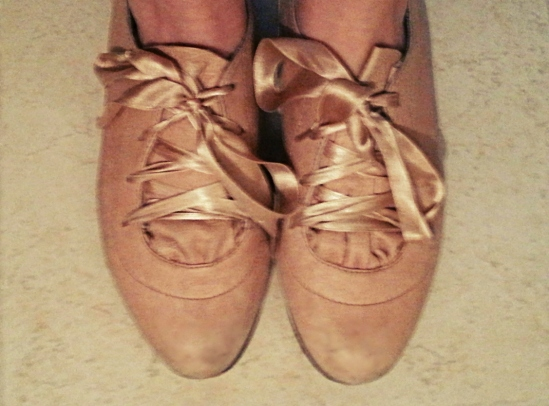 Betsey Johnson ballerina oxfords close-up