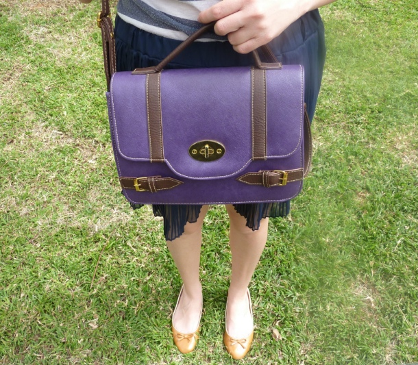 Purple Satchel close-up